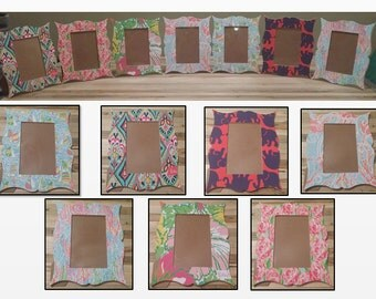Lilly Inspired Frames! Perfect for Sorority Baskets!