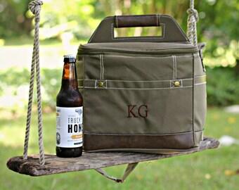 Personalized Groomsmen Gift Insulated Beer Cooler Bag w/ Removable Beer Dividers Groomsmen gifts groom gifts for groomsmen College Grad,BYOB