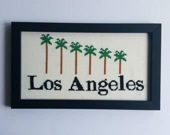 Los Angeles Palm Tree Cross Stitch