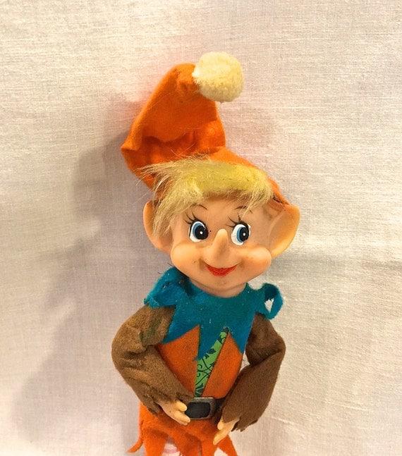 Vintage Elf Pixie Ornament Christmas Elf By Vintageprairiehome