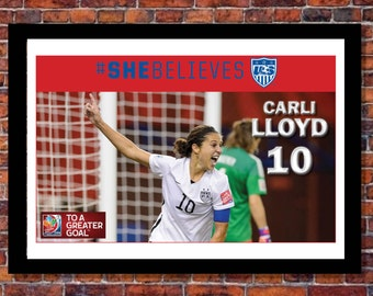Women's World Cup Soccer   Carli Lloyd Poster   19 x 13 inches