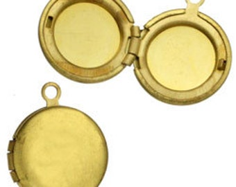 13mm Brass Round Locket (12pcs)