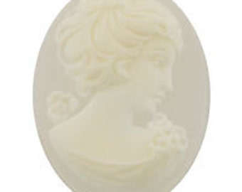 40x30mm German Cameo - Crystal Frosted (12pcs)