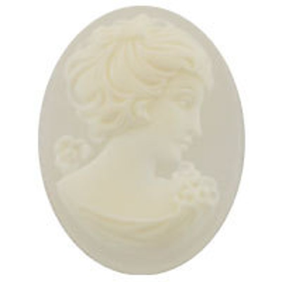 14x10mm German Cameo - Crystal Frosted (12pcs)