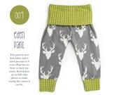 009 Eden Baggy Harem Pants PDF Sewing Pattern Baby Kid Boy Girl Leggings Knit Fold Over Waist Preemie- 6T Sadi & Sam (Spit Up and Stilettos)