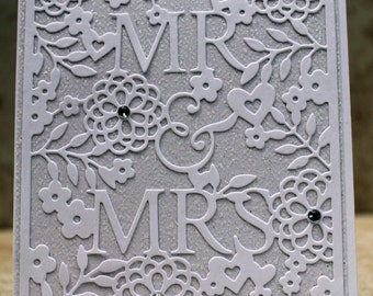 Wedding Card, White, Handmade
