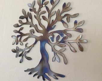 Olive Tree of Life Abstract Metal Wall Art Decor