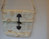 Beautiful, romantic, french inspired foldover tote