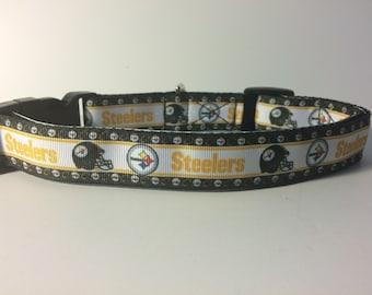 DOG COLLAR!! Pittsburgh Steelers dog collar