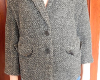 Grey button up coat