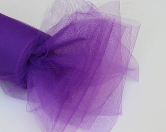 Purple tulle roll - 6 inches - 100 yard - Purple tulle spool - 6 X 100 yd  - tulle roll purple - purple fabric