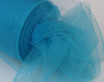Turquoise tulle rolls - 6 inches - 100 yard - 6 X 100 yd - turquoise tulle spool -  tulle rolls turquoise rolls - tulle rolls