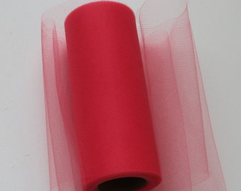 Coral tulle roll - 6 inches - 25 yards -Tulle Spool Coral - tulle spool - roll tulle  - Coral tulle roll - Coral wedding decor