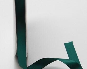 Double-faced Satin Ribbon - 5/8 inch Dark Green Satin Ribbon - Ribbon Dark Green Satin - 5/8 in Ribbon