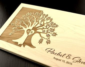 Personalized Cutting Board, Bridal Shower Gift, Monogram Chopping Block, Engraved Wood Cutting Board, Custom Wedding Gift, Anniversary Gift
