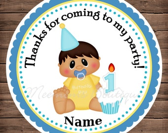 Birthday Boy 1 Personalized Stickers Personalized Stickers, Party Favor Tags, Thank You Tags, Gift Tags, Birthday Stickers, Baby Shower