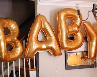 baby balloons gold foil mylar letter wedding balloons balloon banner large balloons letter alphabet balloons wedding bridal shower