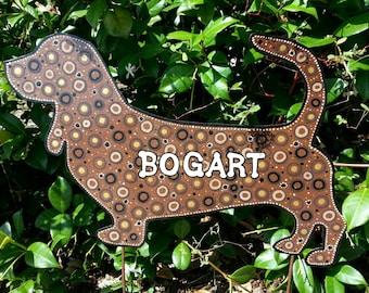 Basset Hound Welcome Sign Yard Stake, Metal Art, Welcome Sign, Basset Hound Yard Art, Housewares, Home Decor, Front Door Decoration