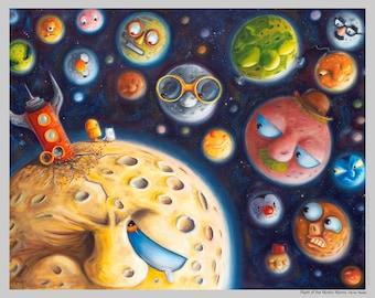 Night of the Mystic Moons - Fun Space Print