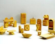 dollhouse furniture set -σετ επίπλων για κουκλόσπιτο
