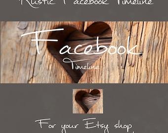 Rustic Wood, Facebook timeline cover, Facebook banner, custom banner