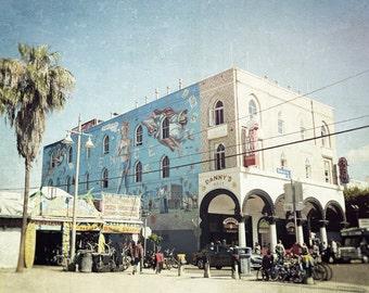 California Photography, Venice Beach, Danny's Deli, Street Art Mural, Palm Trees, Los Angeles, Coastal Decor, Summer, Fine Art Print