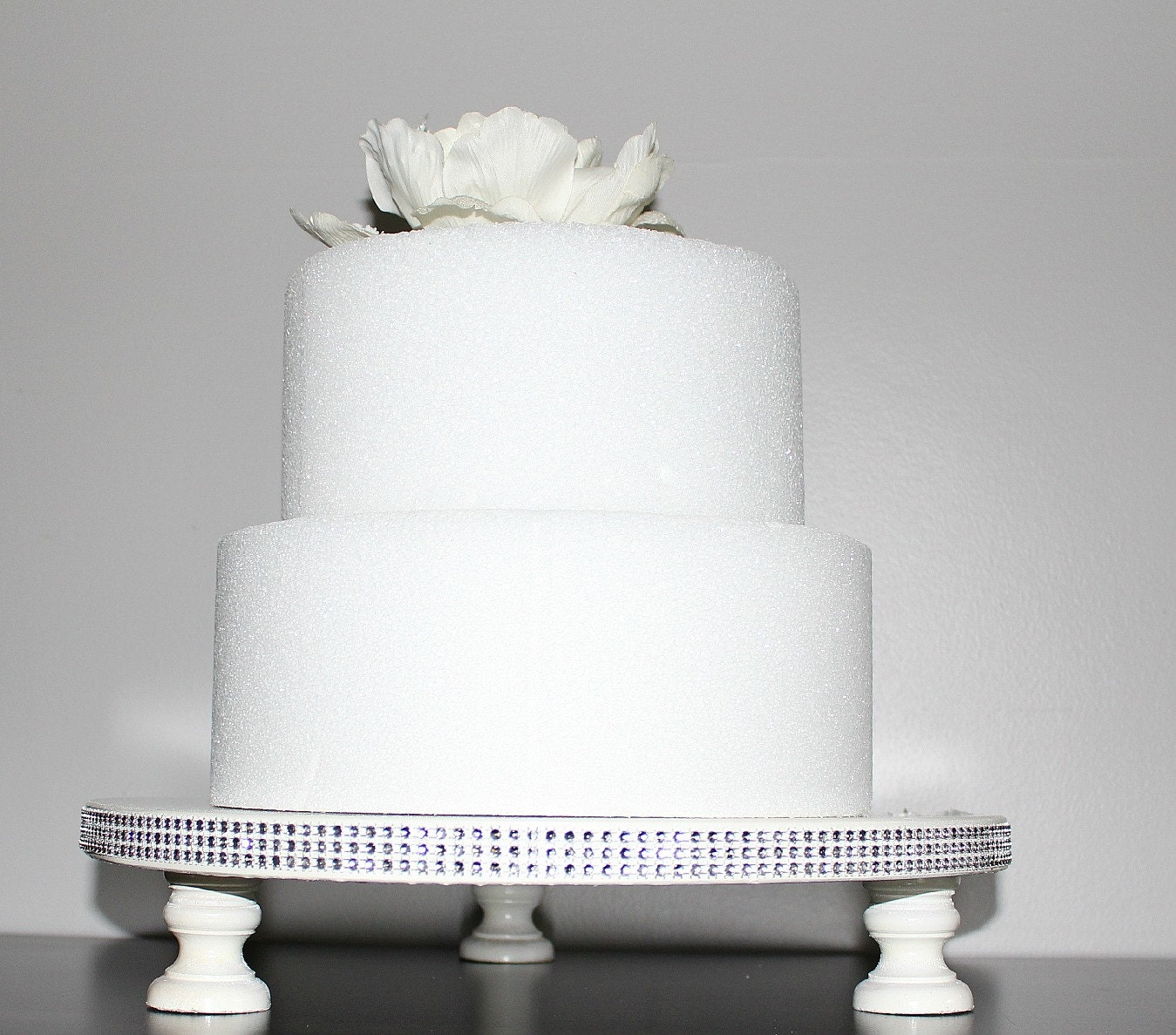 10 Rhinestone White Wedding Birthday Bridal Shower Baby