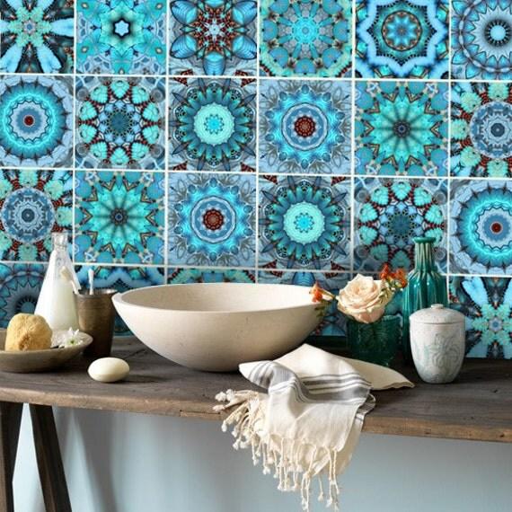 wall tile decals vinyl sticker waterproof tile or wallpaper for