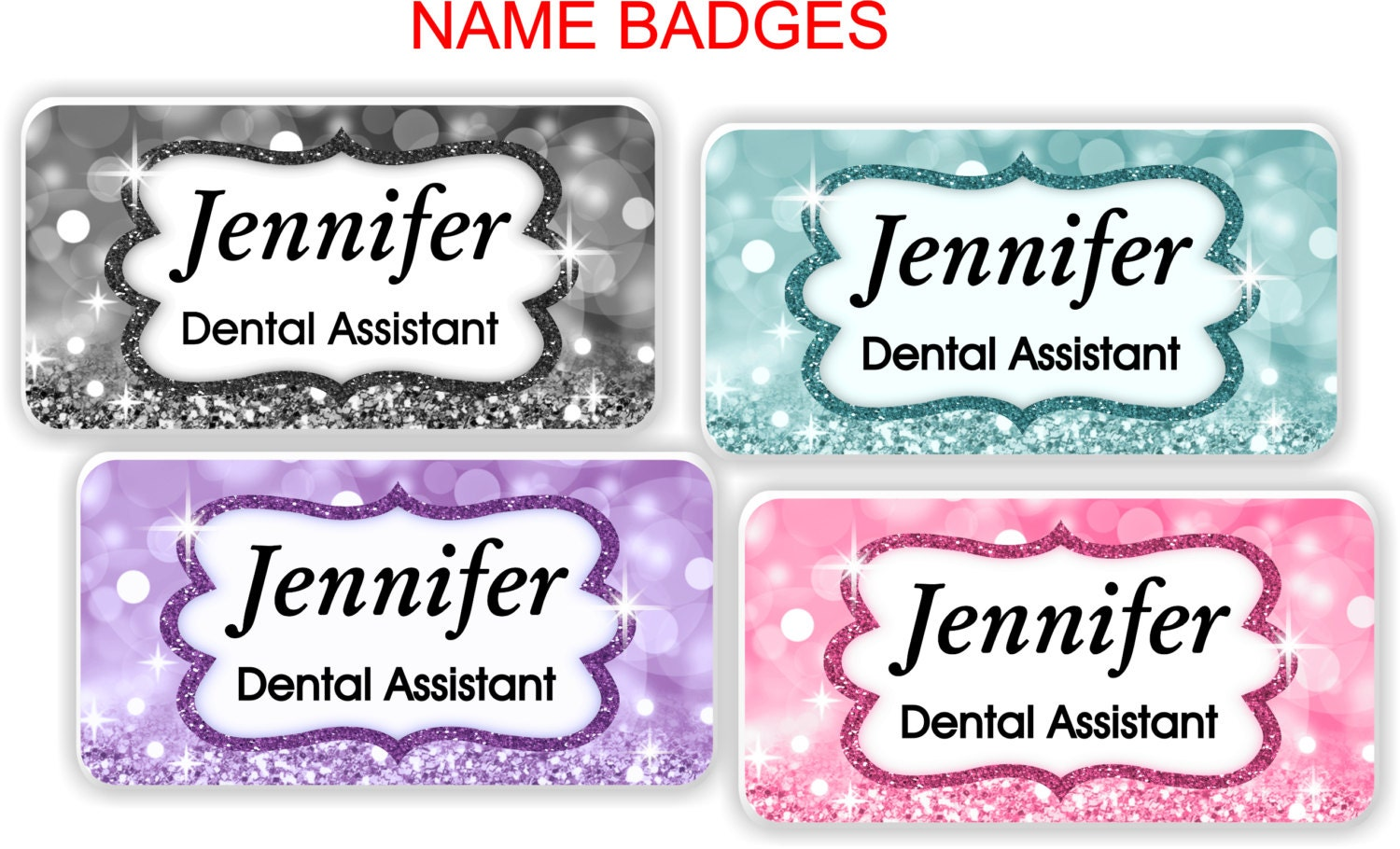Name Badge: Magnetic Name Badge Magnetic Name Tag ID Tag With Magnetic