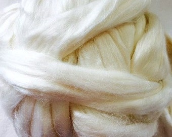 Undyed Bamboo Fibre for Spinning or Felting - 10 grams