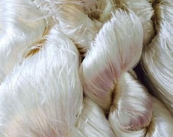Undyed Banana Silk Fibre for Spinning or Felting - 10 grams