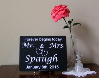 Mr and Mrs, Wedding Shower Gift, Established Date,Wedding Gift,Last Name Wedding Gift,Gift For Couples,Gift For Newlyweds,Bridal Shower Gift