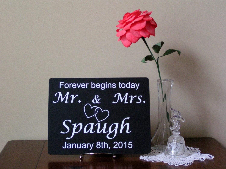 Mr And Mrs Gifts Wedding: Mr And Mrs Wedding Shower Gift Established DateWedding