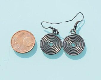 Cute Simple Summer style wire Spiral drop handmade earrings