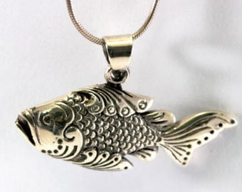 Fish, 925 sterling silver pendant