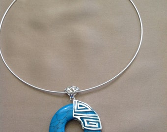 Hoop Turquoise necklace