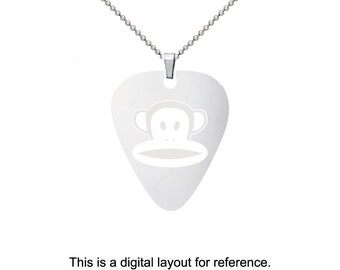 Paul Frank Stainless Steel Guitar Pick Charm Necklace