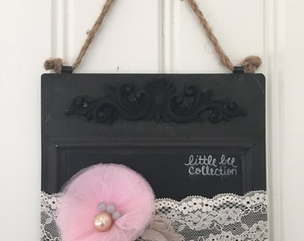 Shabby Chic Fabric Flower and Lace Headband
