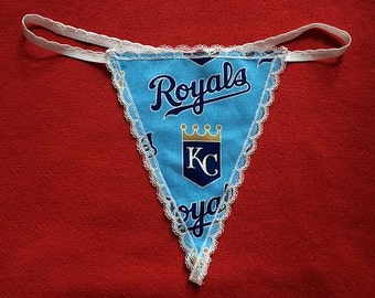 Womens KANSAS CITY ROYALS G-String Thong Female Mlb Lingerie Baseball Underwear