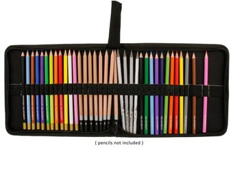 Canvas Zippered Pencil Case, Pencil Holder, Wrap, Roll; Art Storage, Drawing Supplies