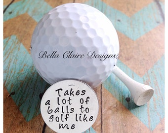 Father day gift for dad, golf gift for dad, Golf Ball Markers, Custom Golf Ball Markers, Father's Day Gift, Golf Gift, Golf Accessories,