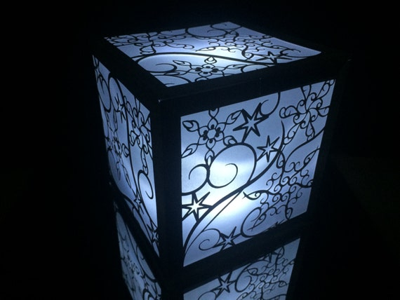 Snowflake winter wedding lantern luminary by