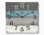 Rustic Wall Clock Coastal Theme Ideas in Blue Aqua Shabby Chic Beach or Rustic Decor - Miramar