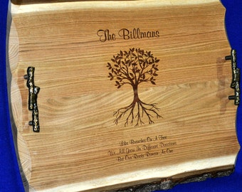 Wedding Gift To Parents ~ Wedding Gift ~ Family Tree ~ Engraved Gift For Couple ~ Engraved Serving Tray ~ Gift For Parents of Bride & Groom