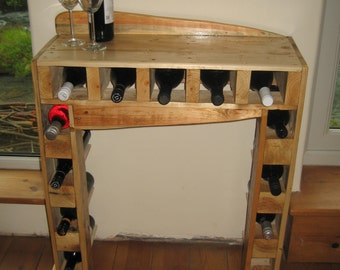 SPECIAL SALE PRICE...Pallet Wood Wine Rack