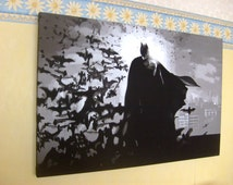 Batman Dark Knight Inspired Canvas Art Picture(size A0, A1 & A2), New!
