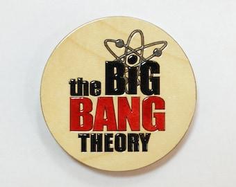 Wooden magnet The Big Bang Theory