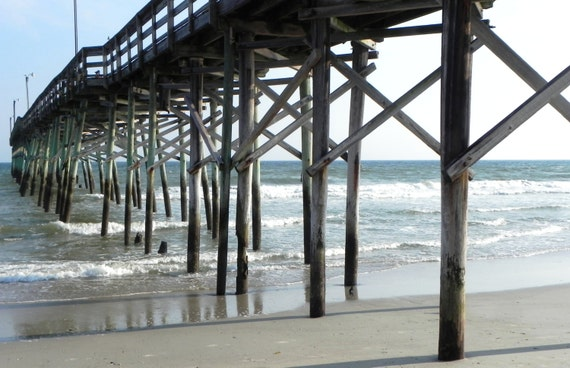 Items similar to holden beach fishing pier on etsy for Holden beach fishing pier