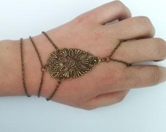 Bronze Slave Bracelet , Steampunk Slave Bracelet , Bronze Bracelet , Handmade Jewelry , Handmade Jewellery , Steampunk Bracelet , Gift