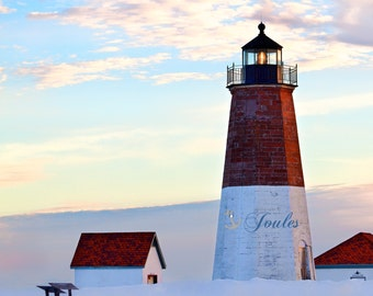 Point Judith Lighthouse ~ Sunset, Point Judith, Narragansett, Rhode Island, Beaches, Coastal, Nautical Photograph